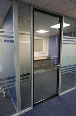 Double glazed office door