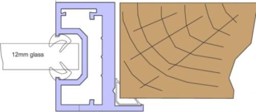 Single Glazed Door Frame Kit - CA657 Timber Door