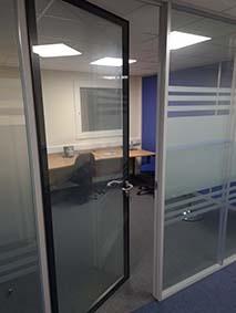 Aluminium office doors