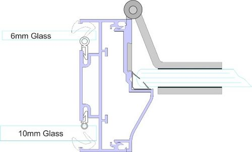 Double Glazed Door Stop Kit - FA532 Glass Door